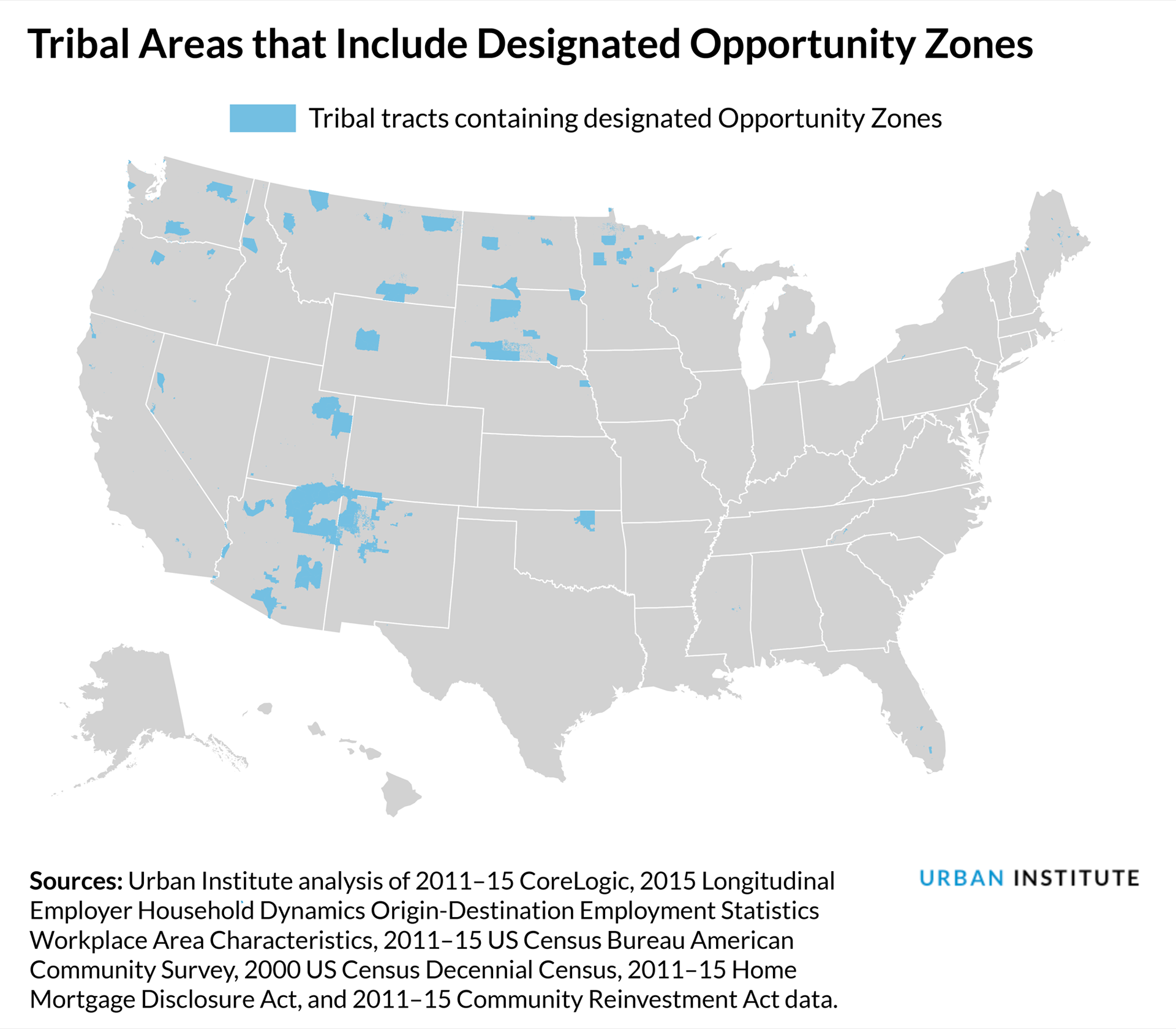 Tribal Areas that Include Designated Opportunity Zones