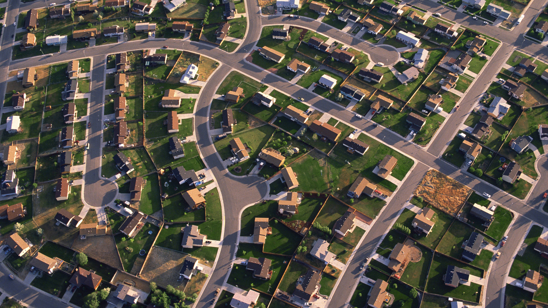 Aerial image of Billings housing development, key image