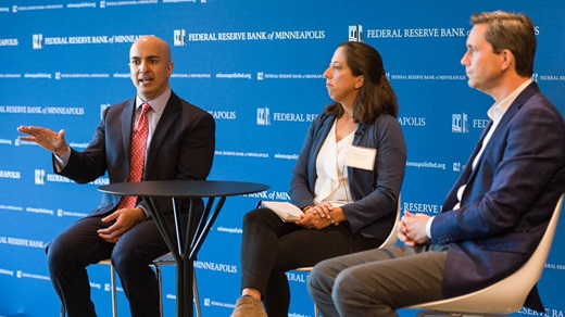 Neel Kashkari speaking at the Fall 2019 conference