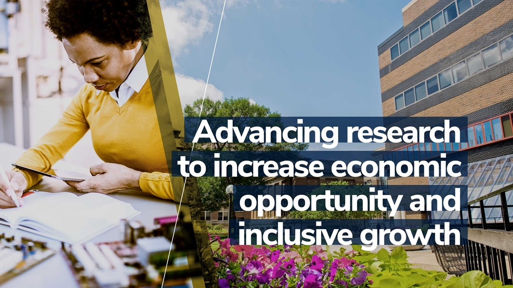 Institute's mission: Conducting research to increase economic opportunity and inclusive growth