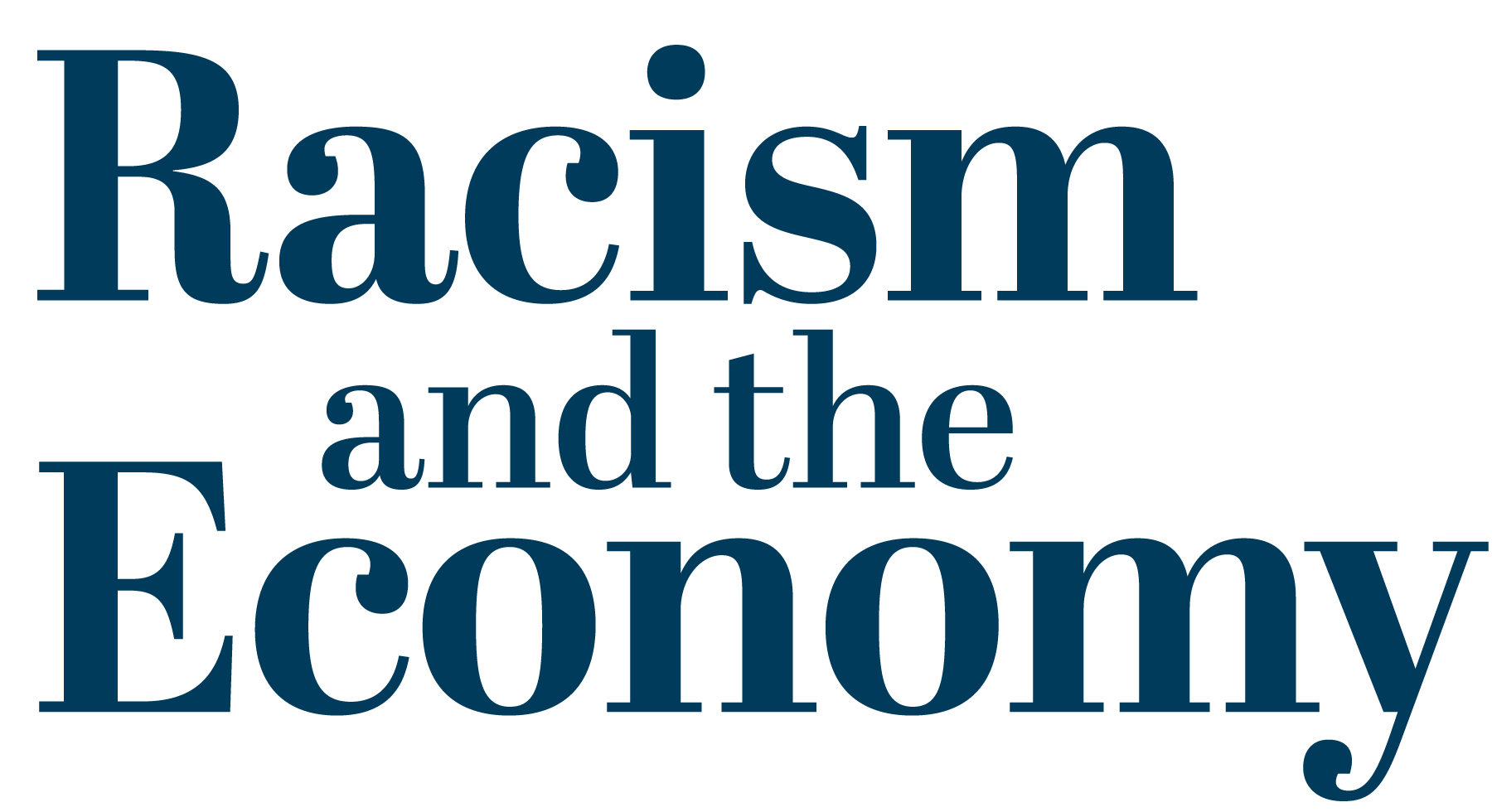 Racism and the economy logo