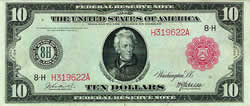 Federal Reserve Note, 1914, $10