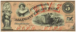 Bank Note Allegany County Bank, Maryland