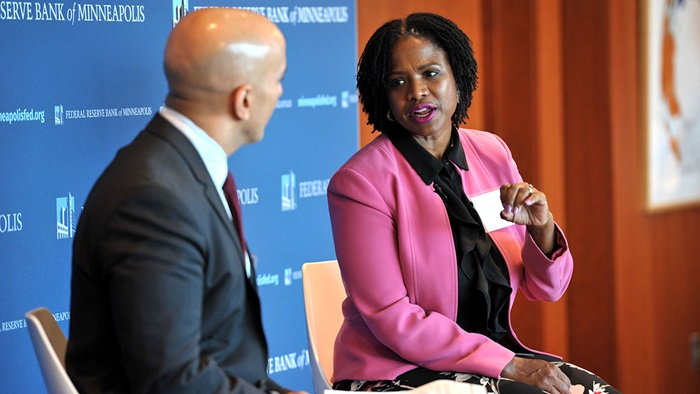 Sondra Samuels and Neel Kashkari speak at lunch keynote