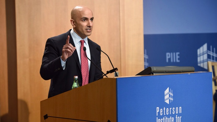 Neel Kashkari speaking at the third symposium for EndingTBTF