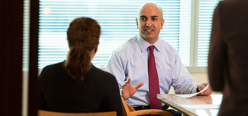 Photo: Neel Kashkari in conference room