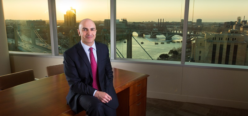 Photo: Neel Kashkari overlooking Mississippi River