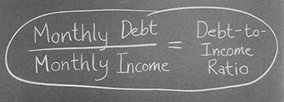 Debt-to-Income Ratio on Blackboard