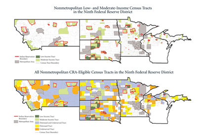 Census Tracts in the Ninth Federal Reserve District