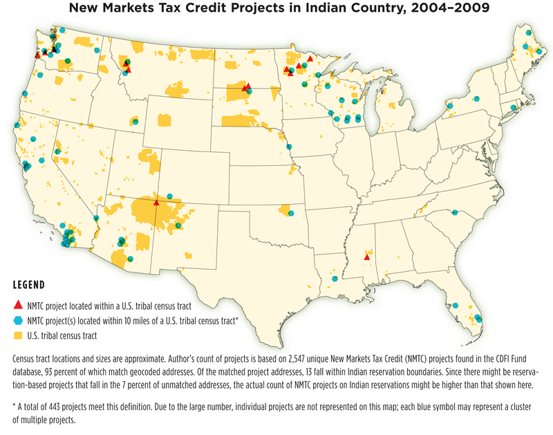 New Markets Tax Credit Projects in Indian Country, 2004-2009