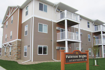North Dakota Housing Incentive Fund (HIF) dollars helped Beyond Shelter, Inc., develop Patterson Heights, a 24-unit apartment complex in Dickinson, N.D. One-third of the building's units are reserved for law enforcement personnel. (Photo courtesy of Beyond Shelter, Inc.)