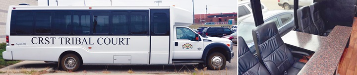 CRST Tribal Court Bus