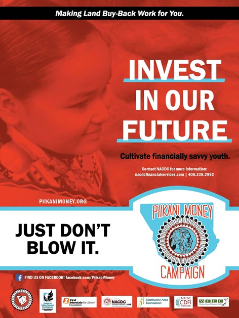 Piikani Money Campaign - Poster