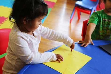 Lakota Immersion Childcare enrolls children as young as age 16 months and up to five years old.