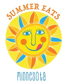 Full Summer Eats Minnesota logo with text, one column wide