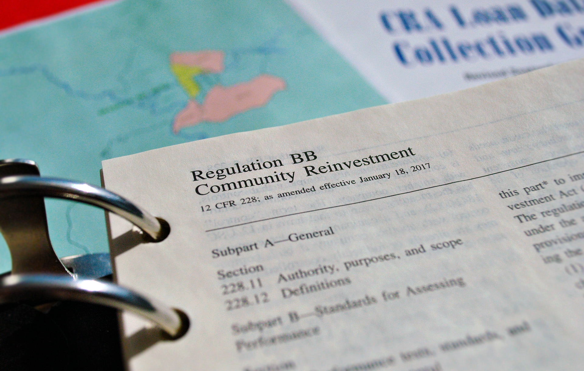 CRA Regulations Binder, detail