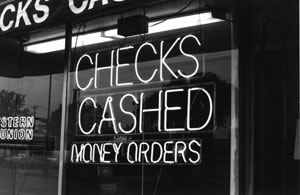 Sign: Checks Cashed Money Orders