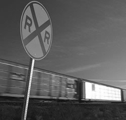 Photo: Railroad sign