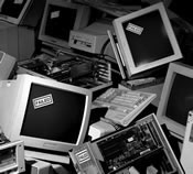 Discarded Computer Monitors