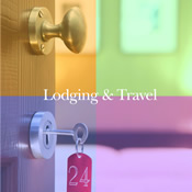 Image: Lodging and Travel -  Hotel doors with key