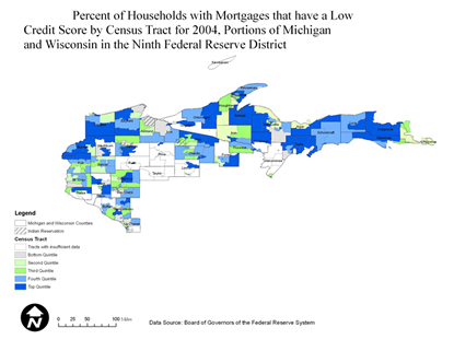 Northwestern Wisconsin and Upper Peninsula of Michigan Mortgage Map
