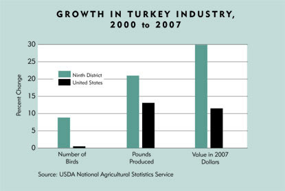 Chart: Growth in Turkey Industry, 2000 to 2007