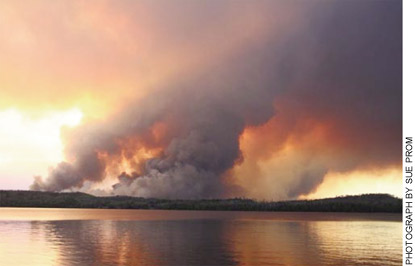 The 2007 Ham Lake fire in northern Minnesota was the biggest in the state in 90 years, scorching 36,000 acres and more than 100 homes and  cabins.