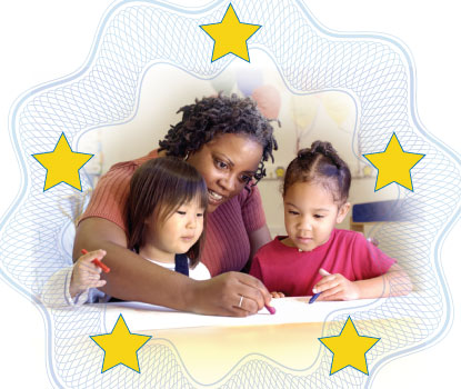 Child-care provider and children