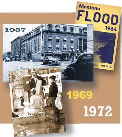 Historical floods in the ninth district