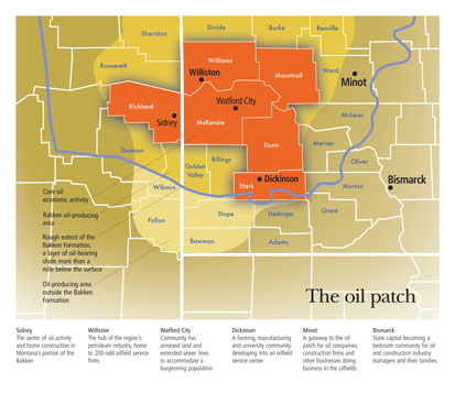 Map of the Oil Patch