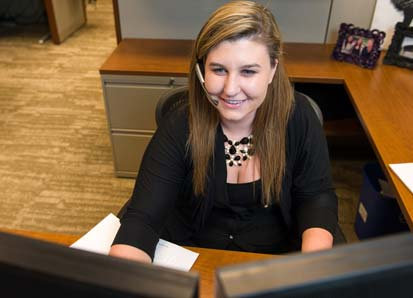 Elizabeth Safeski of Edina, Minn., has been working for Express Employment Professionals at Eide Bailly in downtown Minneapolis since October 2013.
