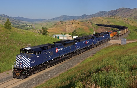 Montana Rail Link trains transport freight on 900 miles of track in Montana and Idaho.