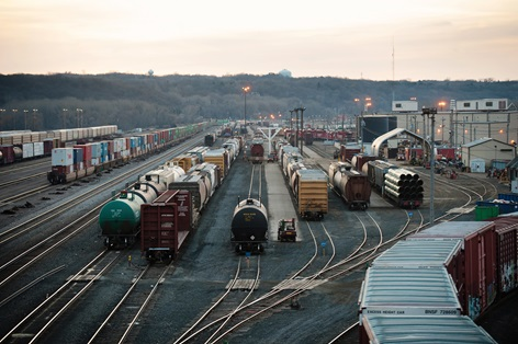 Canadian Pacific's rail yard in St. Paul is a major junction for trains carrying crude oil, grain and other commodities to destinations in the district and across the country.