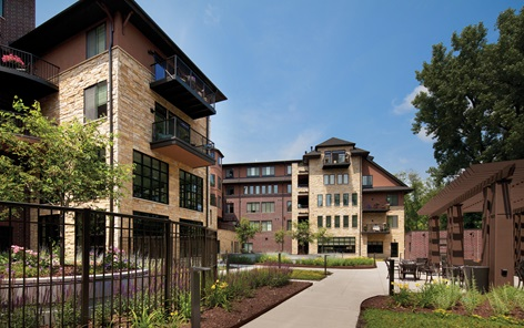 Many assisted living facilities, such as Folkestone, are part of campuses offering a continuum of long-term care and amenities that include fitness centers, restaurants and shopping.