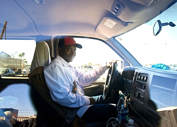 Photo: Mastaki Makofi drives daily from South Dakota to work at JBS Pork in Worthington.