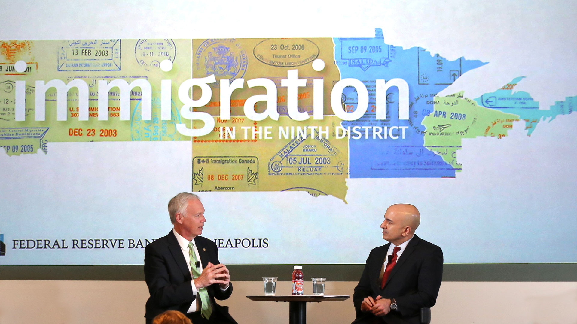 Sen Ron Johnson and Neel Kashkari speak at the conference