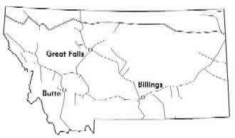 Map Montana Railroads
