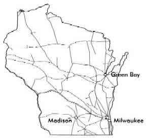 Map Wisconsin Railroads
