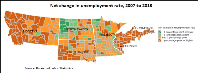 County unemployment map -- 3-24-14