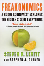 Book cover: Freakonomics