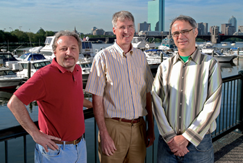 Photo: David Levine, Tom Holmes and Jim Schmitz